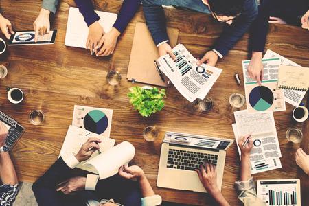 L'équipe marketing Comptabilité Analyse Concept Réunion Banque d'images - 46462619