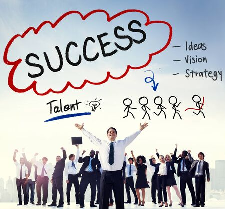 skills diversity: Success Talent Vision Strategy Goals Concept