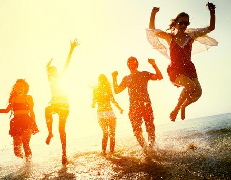 freedom: Friendship Freedom Beach Summer Holiday Concept