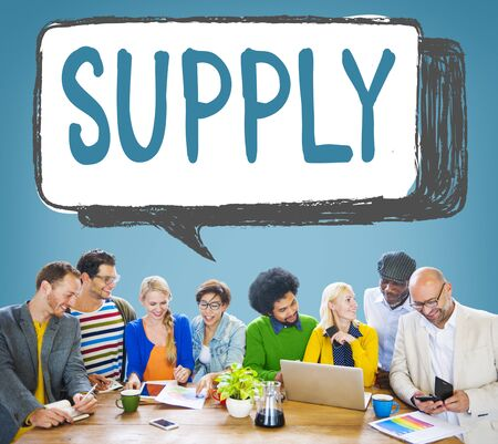 supplier: Supply Supplier Production Logistics Industry Concept
