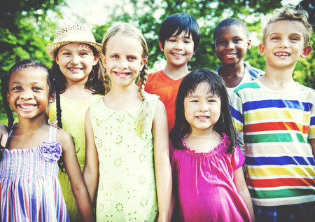 colored school: Friends Friendship Happiness Children Child Childhood  Concept Stock Photo