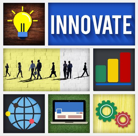 to innovate: Innovate Invention Innovation Development Vision Concept Stock Photo