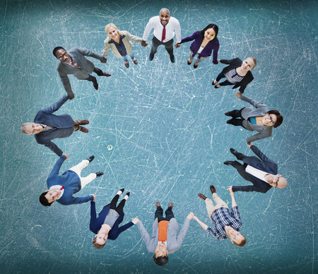round collar: Team Corporate Togetherness Unity Connection Concept Stock Photo