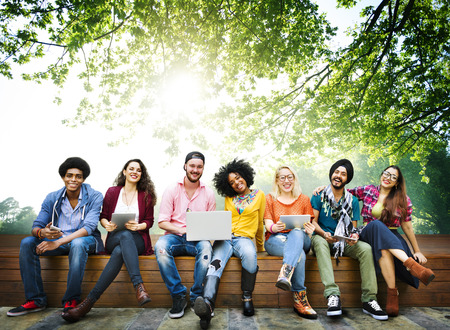 mates: Teenagers Young Team Together Cheerful Concept Stock Photo