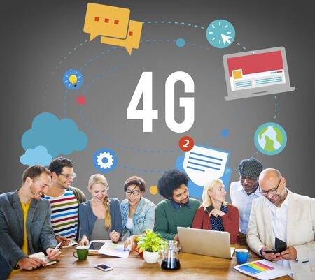 modernity: 4G Telecommunication Connection Networking Mobility Concept