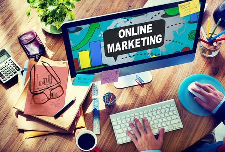 Online Marketing Promotie Branding Advertentie Concept Stockfoto