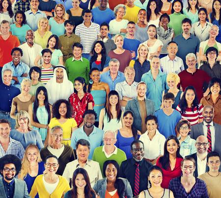 variation: Multiethnic Variation Ethnicity Crowd People Concept Stock Photo
