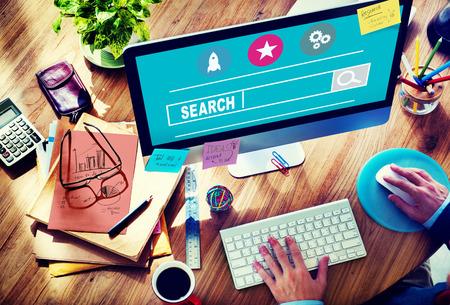 Pesquisa Seo Pesquisando on-line Internet Web Browsing Concept