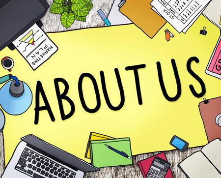'about us': About Us Support Help Ask Question Concept