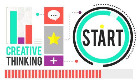 begining: Start Begining Forward Direction Motivation Concept