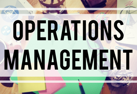 operations: Operations Management Authority Director Leader Concept