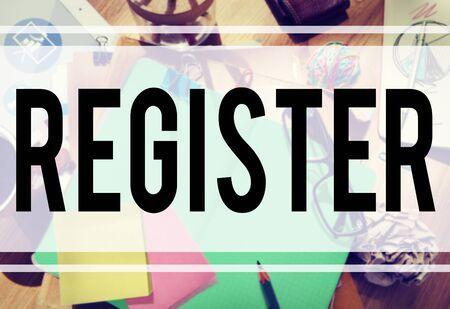 registry: Register Subscribe Enlist Membership Concept