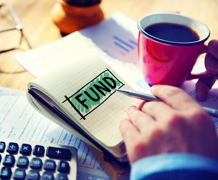 fund: Fund Funding Donation Investment Budget Capital Concept