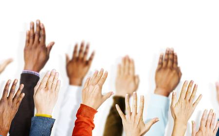 mãos: Grupo de mãos Braços Vounteer Concept Imagens