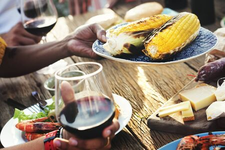 luncheon: Diverse People Luncheon Food Sharing Concept