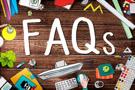 faq's: FAQS Frequently Asked Questions Information Concept