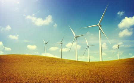 Turbine Zelená energie elektřina Technologie Concept