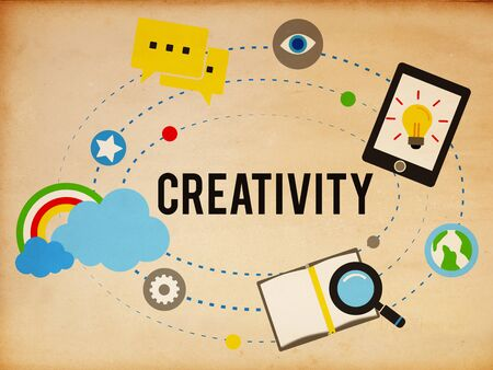 creativity and innovation: Creativity Artistic Imagination Inspiration Innovation Concept
