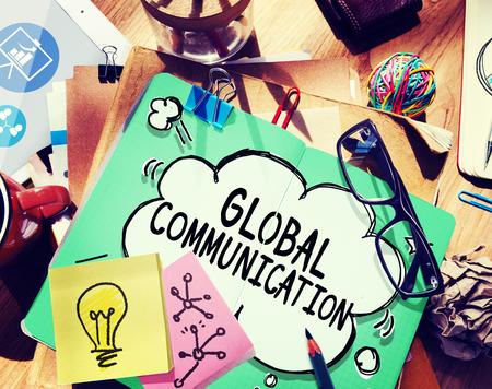 グローバル ・ コミュニケーション グローバル接続通信の概念 写真素材