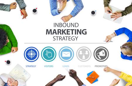 Inbound Marketing Strategia Pubblicità Commerciale Branding Concetto Archivio Fotografico - 46600302