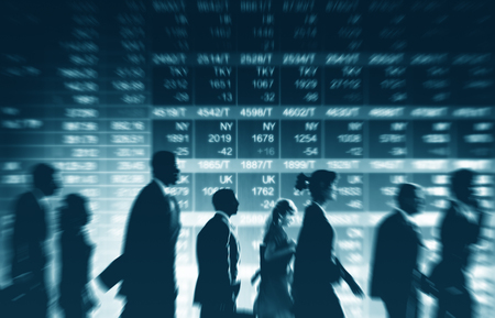 Group of Business People Stock Market Concept Stok Fotoğraf