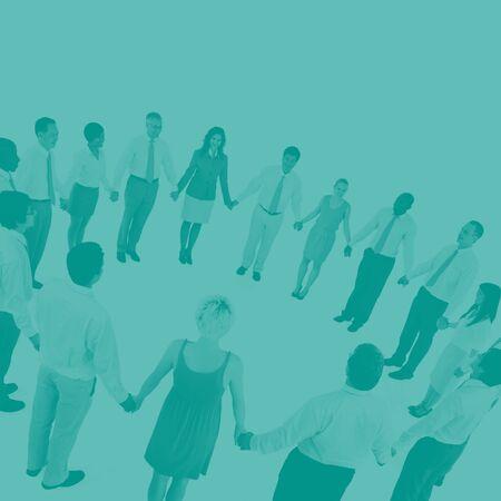 organised group: International Green Business Meeting Teamwork Concept
