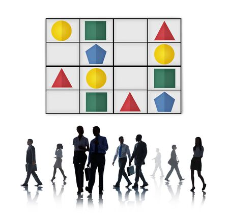 round collar: Sudoku Puzzle Problem Solving Leisure Games Concept