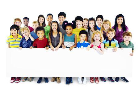 childhood: Children Kids Childhood Friendship Happiness Diversity Concept Stock Photo