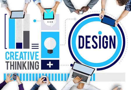 Ontwerp Creativiteit Denken Ideeën Designer Concept Stockfoto