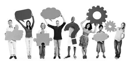 etnia: Diversity Ethnic Ethnicity Unity Togetherness Concept