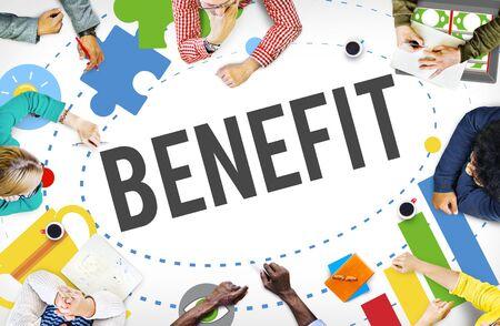 advantage: Benefit Advantage Compensation Reward Bonus Concept