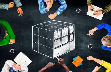 problem solution: Cube Cubic Puzzle Solution Solving Problem Concept