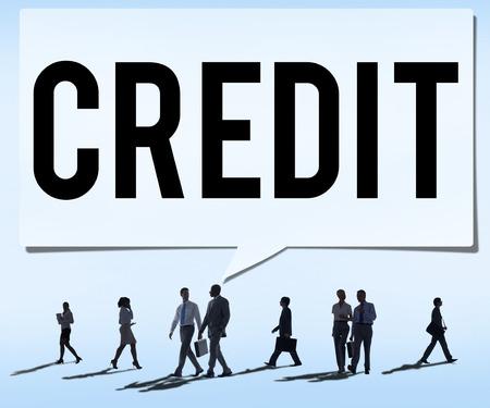 contabilidad: Crédito Contabilidad Banca Financiera concepto de negocio