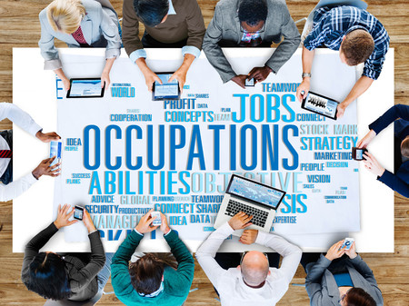 technology career: Occupations Careers Community Experience Global Concept Stock Photo