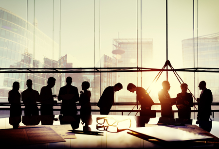 bowing: Business People Japanese Culture Bowing Respect Greeting Concept