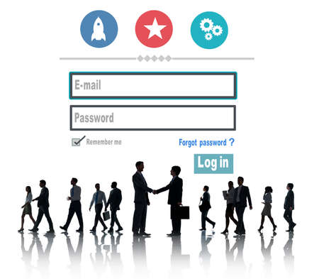 password protection: Log in Security Username Password Protection Privacy Concept Stock Photo