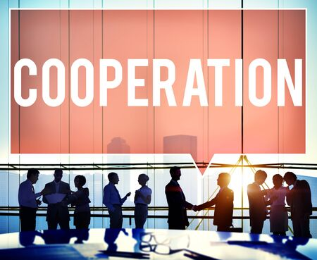 group solution: Cooperation Partnership Teamwork Connection Concept
