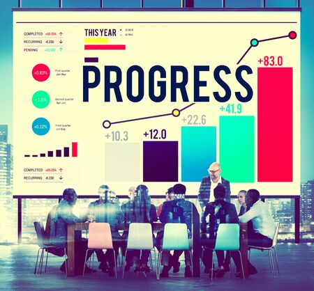 Progress Strategy Success Motivate Development Growth Concept