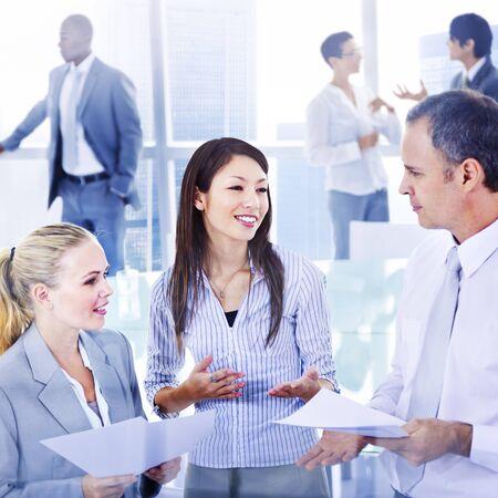 Geschäftsleute Treffen Diskussion Kommunikationskonzept Standard-Bild