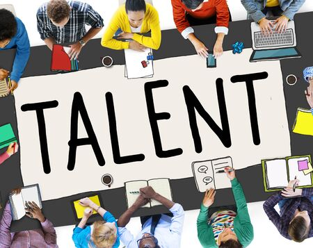 qualified: Talent Gifted Skills Abilities Capability Expertise Concept Stock Photo