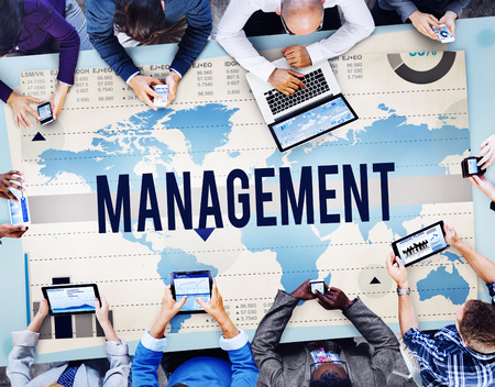 trainer device: Management Manage Leadership Training Concept