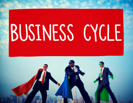 recession: Business Cycle Income Profit Loss Recession Concept Stock Photo