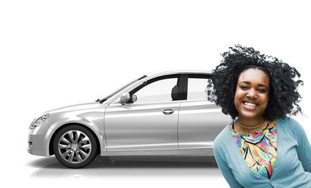 motoring: Car Vehicle Hatchback Transportation 3D Illustration Concept
