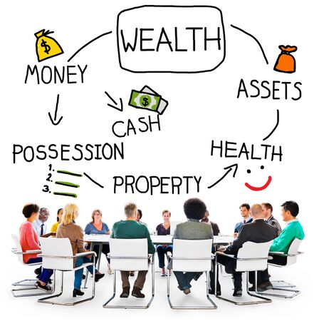 affluence: Wealth Money Possession Investment Growth Concept