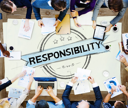 liability: Responsibility Reliability Trust Liability Trustworthy Concept Stock Photo