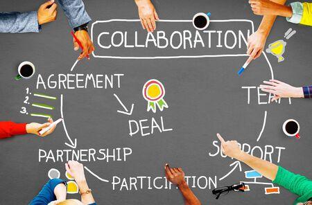 colaboracion: Collaboration Corporate Support Partnership Connection Concept
