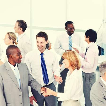 social grace: Group of Business People Meeting Office Workshop Concept Stock Photo