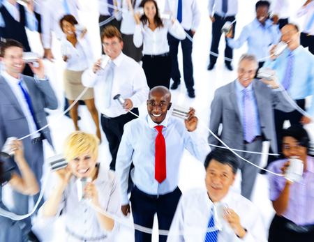 string together: Business People Communication Telecommunication Concept Stock Photo