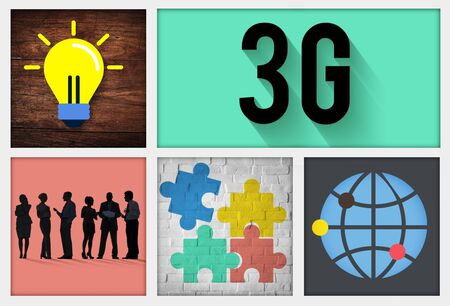 modernity: 3G Connection Technology Internet Network Concept