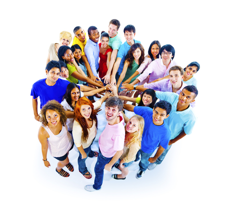 community group: Large Group of People Community Teamwork Concept